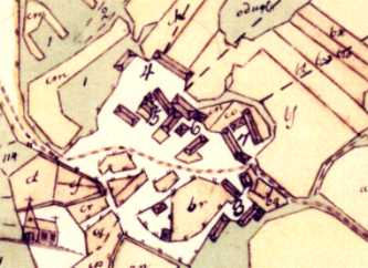 Old map of Härene